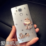 เคส Huawei Mate 8 พลาสติกโปร่งใสประด้บคริสตัลสวยงาม ควรมีติดตัวไว้สักอัน ราคาถูก