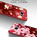 เคส Samsung S7 Edge ซิลิโคนแบบนิ่ม สกรีนลายดอกไม้ สวยงามมากพร้อมสายคล้องมือ ราคาถูก (ไม่รวมแหวน)