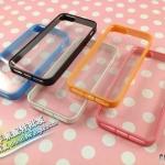 case iphone 5 เคสไอโฟน5 ด้านหลังเคสใส ขอบ TPU สีหวานใส่แล้วสวยมาก มีหลายสีให้เลือก