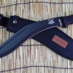 มีดใบตายกรูข่า COLD STEEL ฺBlack Kukri Knife รุ่น COLD STEEL 39LGKT O-1 (OEM)