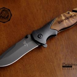 มีดพับสำหรับพกพาขนาดกลาง Browning ด้ามเหล็ก รุ่น X50 (OEM)