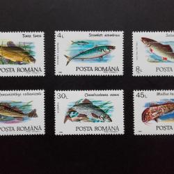 แสตมป์โรมาเนีย ชุด Fish ปลาสายพันธุ์ต่างๆ ปี 1992 - Romania