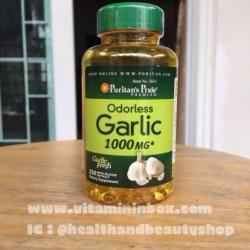 # ความดัน # Puritan's Pride Odorless Garlic 1000 mg 250 Softgels