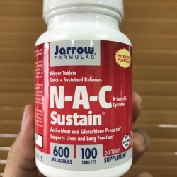 # สุดยอด nac # Jarrow Formulas, N-A-C Sustain, N-Acetyl-L-Cysteine, 600 mg, 100 Bilayer Tablets