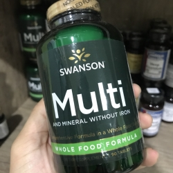 Swanson Ultra Whole Food Multivitamin without Iron 90 TABLETS