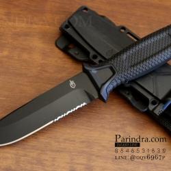 มีดใบตาย Gerber Strong Arm Semi serrated Fixed Blade OEM สีดำ ขนาด 10 นิ้ว หล่อสุดๆ A++