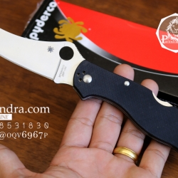 มีดพับ Spyderco รุ่น ZDP-189 ด้าม G10 สีดำสนิท คมกริบ ขนาด 8 นิ้ว (OEM) A++