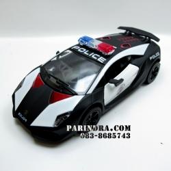 โมเดลเหล็กรถตำรวจ Lamborghini Sesto Elemento โฉบเฉี่ยวในพลังรถ Sport