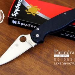 มีดพับ Spyderco รุ่น Paramilitary 2 ด้าม G10 สีดำสนิท ขนาด 8 นิ้ว (OEM) A++ (FA35)