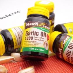 Mason Vitamins, Garlic Oil 1000, 100 Softgels