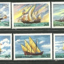 แสตมป์เซนต์ โทมัส ชุด HISTORY OF NAVIGATION ประวัติศาสตร์การเดินเรือ ปี 1979 - ST THOMAS AND PRINCE ISLANDS