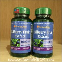 #วิตามินใช้สายตาเยอะ# Puritan's Pride Bilberry 1000 mg 90 Softgels