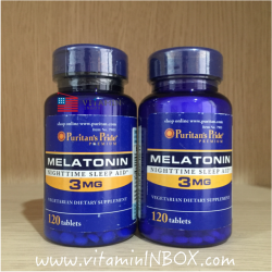 Puritan's Pride Melatonin 3 mg 120 Tablets