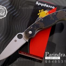 มีดพับ Spyderco ด้ามลายพรางทหารและคมกริบ ขนาด 8 นิ้ว (OEM)