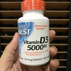 Doctor's Best, Best Vitamin D3, 5000 IU, 180 Softgels