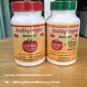Healthy Origins, Lyc-O-Mato, Tomato Lycopene Complex, 60 Softgel ( ฝาเขียว )