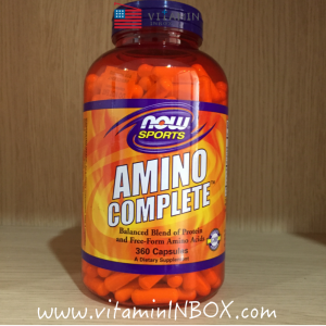# สร้างกล้ามเนื้อ # Now Foods, Amino Complete, Balanced Blends of Amino Acids, 360 Capsules