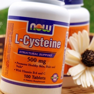 # ผิวขาว # Now Foods, L-Cysteine, 500 mg, 100 Tablets