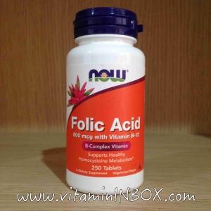 # ก่อนตั้งครรภ์ # Now Foods, Folic Acid, 800 mcg, 250 Tablets
