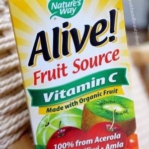 # วิตามินซีสำหรับผิว # Nature's Way, Alive! Vitamin C, 120 Vcaps