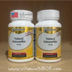 Vitacost Natural Astaxanthin 10 mg - 60 Softgels