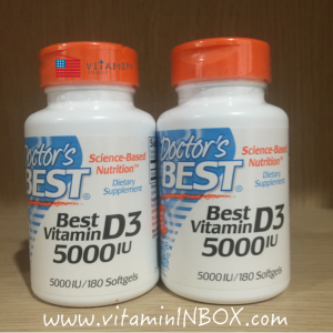 # กระดูก # Doctor's Best, Best Vitamin D3, 5000 IU, 180 Softgels