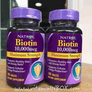 # ไบโอติน # Natrol Biotin 10,000 mcg 100 Tablet