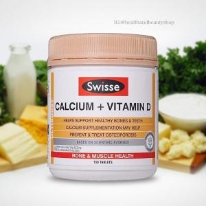 Swisse, Calcium + Vitamin D , 250 Tablets
