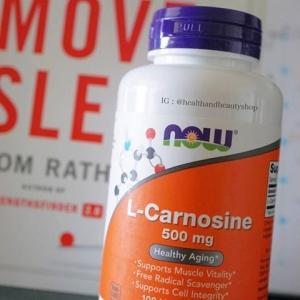 Now Foods, L-Carnosine, 500 mg, 100 Vcaps