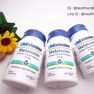 # แบรนด์ Hi # Life Extension, Melatonin, 6 Hour Timed Release, 3 mg, 60 Veggie Tabs