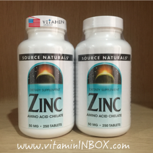 Source Naturals, Zinc, 50 mg, 250 Tablets