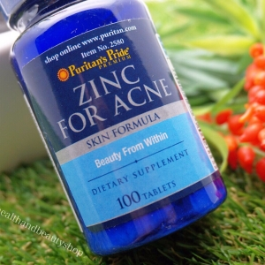 Puritan's Pride Zinc for Acne 100 Tablets