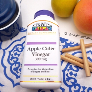 # ควบคุมน้ำหนัก # 21st Century Health Care, Apple Cider Vinegar, 300 mg, 250 Tablets
