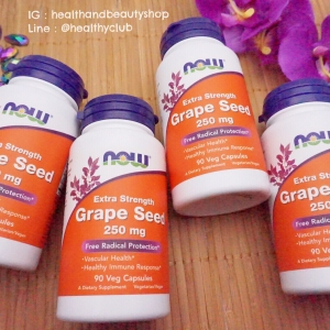 # ผิวใส # Now Foods, Grape Seed, Mega Potency, 90 Vcaps