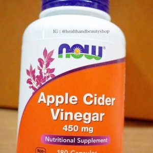 # ควบคุมน้ำหนัก # Now Foods, Apple Cider Vinegar, High Potency, 450 mg, 180 Capsules