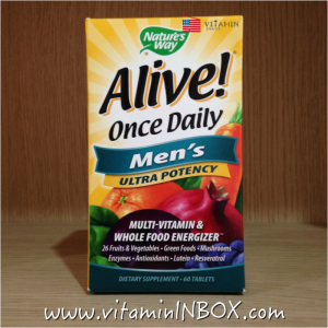 Nature's Way, Alive! Once Daily, Men's Ultra Potency Multi-Vitamin & Whole Food Energizer, 60 Tablets