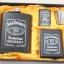 ชุดกระป่องสแตนเลส Jack Daniel's อย่างดี สำหรับพกพา สีดำผิวด้าน thumbnail 4