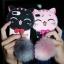 ซัมซุง J7Prime เคสtpuแมวดำห้อยขนเฟอร์ thumbnail 1