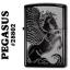 """ไฟแช็ค Zippo แท้ ลายม้าเพกาซัส """"Winged Pegasus Black Ice Chrome"""" #28802 แท้นำเข้า 100% thumbnail 1"""
