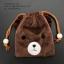 กระเป๋าใส่เหรียญ น่ารัก แบบห้อยคอ หมีสีน้ำตาล thumbnail 2