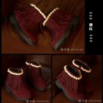 รองเท้าเด็กแฟชั่น สีแดงเลือดหมู แพ็ค 5 คู่ ไซส์ 26-27-28-29-30