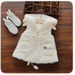 เสื้อกั๊กกันหนาว สีขาว แพ็ค 5 ชุด ไซส์ 5-7-9-11-13