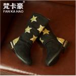 รองเท้าเด็กแฟชั่น สีดำ แพ็ค 6 คู่ ไซส์ 32-33-34-35-36-37