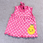 ชุดกระโปรงปัก 8 สีชมพู แพ็ค 12 ชุด ไซส์ เด็กเล็ก (0-2 ปี)