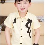 เสื้อ สีเหลืองอ่อน แพค 5 ตัว ไซส์ 100-110-120-130-140