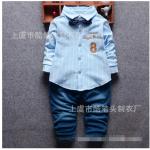 เสื้อ+กางเกง สีฟ้า แพ็ค 4ชุด ไซส์ (เหมาะสำหรับ0-4ขวบ)