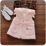 เสื้อกั๊กกันหนาว สีชมพู แพ็ค 5 ชุด ไซส์ 5-7-9-11-13