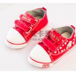 รองเท้าเด็กแฟชั่น สีแดง แพ็ค 5 คู่ ไซส์ 21-22-23-24-25