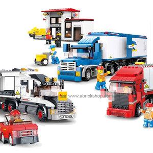 ขนส่ง (Transport) S-set 2. รวมชุดรถพ่วง (ชุด 3 กล่อง)