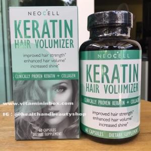 # ผมสวย # Neocell, Keratin Hair Volumizer, 60 Capsules
